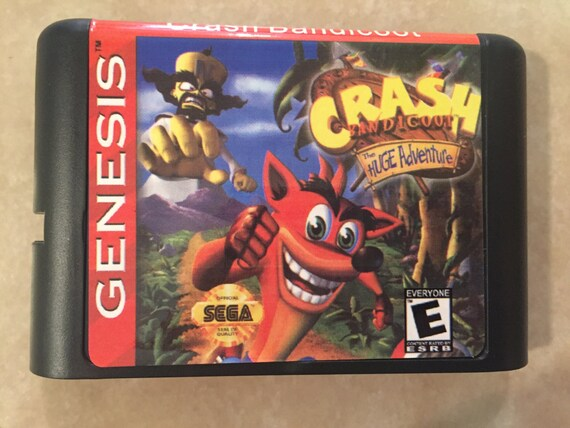 Crash Bandicoot Fan Made Custom Sega Genesis Game 16bit Works