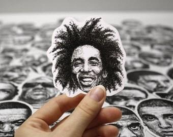Scribbled Bob Marley - Vinyl Sticker