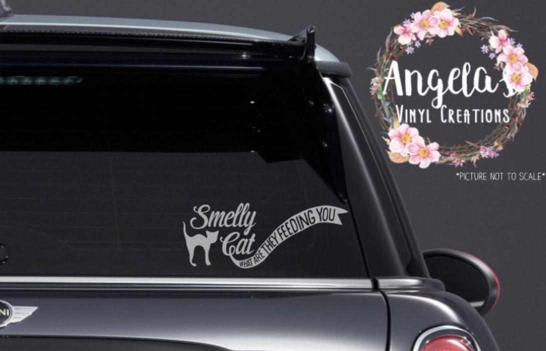 Smelly Cat Vinyl Sticker Vinyl Decal Car Decal Car Sticker - Vinyl decal car nz