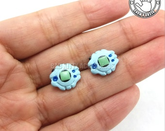 Digivice Inspired Stud Earrings, Surgical Steel Posts