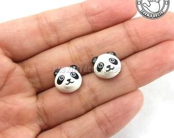 Panda Inspired Stud Earrings, Surgical Steel Posts
