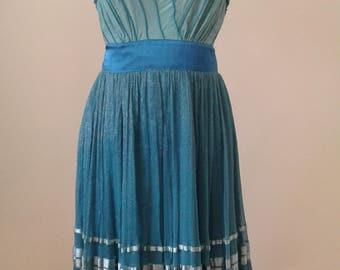 Turquoise Dress,Green Dress, Girlfriend Gift, Summer Dresses, Wedding Dress, Short Dresses, BridesMaid Gift, Gift For Her, Sleeveless Dress