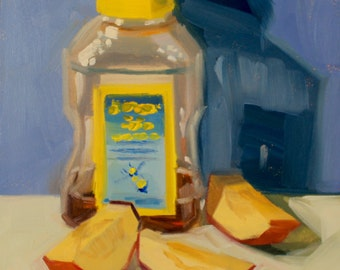 Sweet and Crisp- Original Oil Painting on 6x6 Ampersand Gessobord