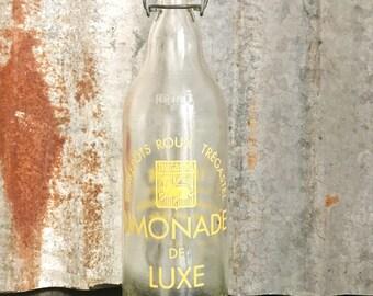 French Vintage Lemonade Bottle/Vintage Soda Siphon/Mid Century Home decor/Retro Soda Bottle/ cool water carafe