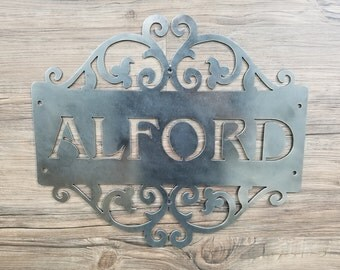 Family Name Plate (Home Decor, Wall Art, Metal Art, {Can Be Personalized})