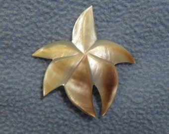 Mother of Pearl Stylized Flower Pin