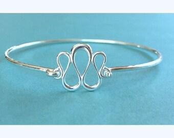 Sterling Silver Bangle Bracelet, Latch Bangle Bracelet, Hammered Bangle Bracelet, Oval Bangle Bracelet, Sterling Silver Bracelet, Bangles