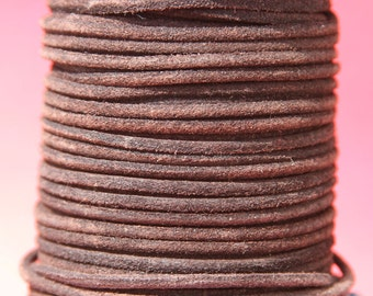 MADE in EUROPE 2 yards of suede cord, 3mm round suede cord (3cromar)
