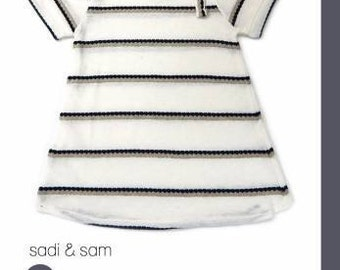 Rachel Knit Dress for Babies and Toddlers - Paper sewing pattern by Sadi & Sam