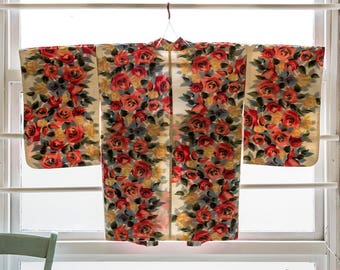 painted rose haori