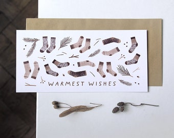 warmest wishes. postcard // postcard for a friend, nice and simple gift