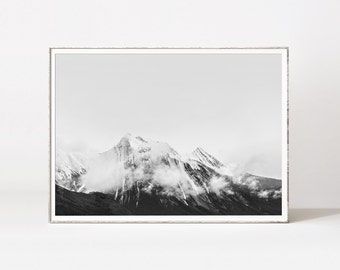 Mountain print, black and white landscape prints, trending wall art, mountain landscape, mountains art, contemporary art, landscape photo