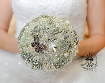 Brooch Bouquets for Brides, Wedding Bouquet Bridal Bouquet Brooch Bouquet Bouquet Wedding Crystal Bouquet Jeweled Bouquet Jewelry Bouquet