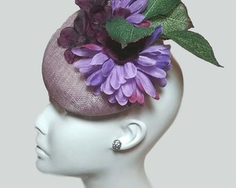 Lavender Garden Blooms Fascinator Hat