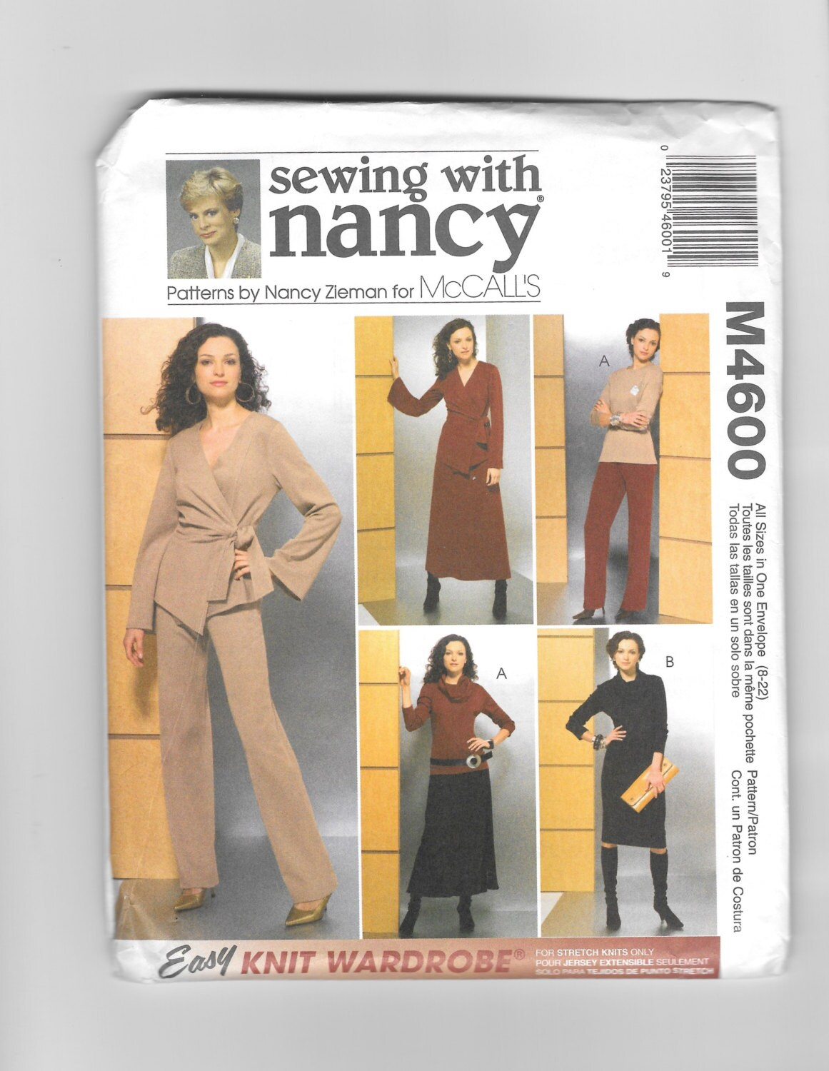 Mccalls m4600 sewing with nancy easy knit wardrobe patterns for sold by rosesandbees jeuxipadfo Image collections