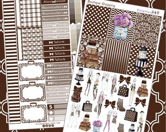 Boutique Shopping  Planner Stickers