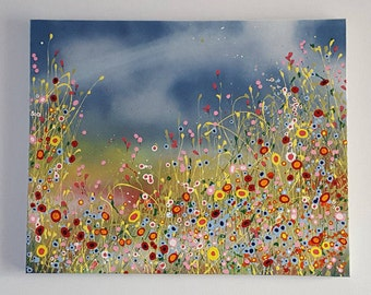 Abstract art 'Spring is Coming' original acrylic painting. Size 30 x 24 inches.