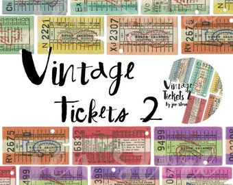 Washi Tape Original - Vintage Tickets 2 Washi exclusive design