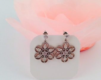 Bridal Earrings Crystal Bridal Earrings Wedding Earrings Crystal Earrings Swarovski Drop Dangle Chandelier earrings Flower earrings