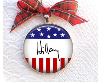 Hillary Clinton Ornament-Hillary Christmas tree Ornament - Hillary Clinton Christmas Ornament