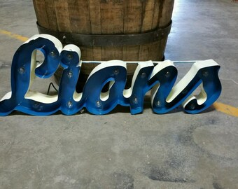 Items Similar To Reclaimed Wood Bar Sign Lighted Sign