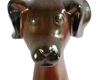 Large Ceramic Floppy Ear Puppy Dog 18 in Art Pottery Ceramic Sculpture