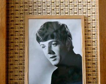 Framed Black & White Photo of Paul McCartney C.1960s