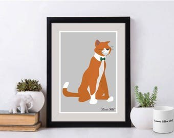 Disney Cat Thomas O'Malley Poster/Print - cats disney duchess the aristocats thomas o'malley meow kitty poster art decor