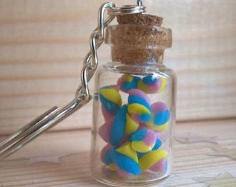 Retro sweets Mini Marshmallow Key-chain