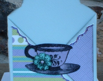 Purple Blue and Green Get Well Soon Pocket Card Gift