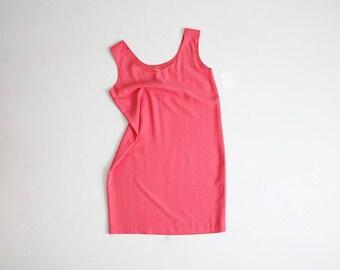 coral silk dress   coral dress   tank dress
