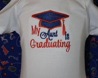 University of Florida baby graduation bodysuit, UF,Florida Gators, Boy graduation shirt, girl graduation shirt,graduation cap
