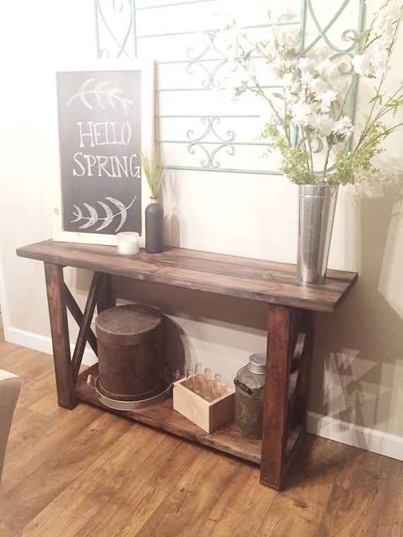 Foyer Table Etsy : Items similar to entryway table console on etsy