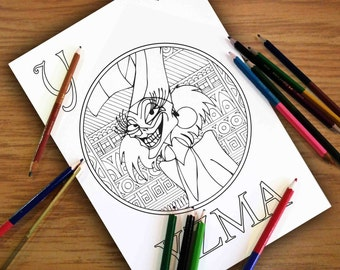 disney coloring pages yzma gift for kids zentangle coloring sheets pdf - Zentangle Coloring Pages