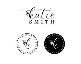 Photography Logo Elegant Font Logo Feminine Logo Design Signature Logo Heart Logo Design Calligraphy Logo