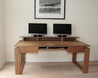 Walnut desk with traditional accents