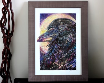 Space Raven - Original Water Colour Painting