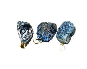 Raw Apatite Necklace, Throat Chakra Healing, Spirituality, Public Speaking, Apatite Jewelry, Yoga Necklace, Gemstone Crystal, Blue Apatite