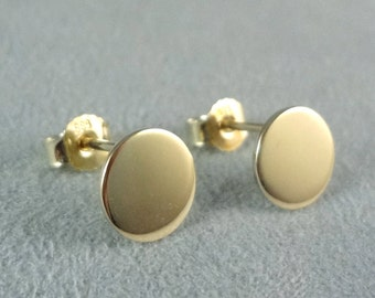 Ear Studs Coins Gold Disk Circle