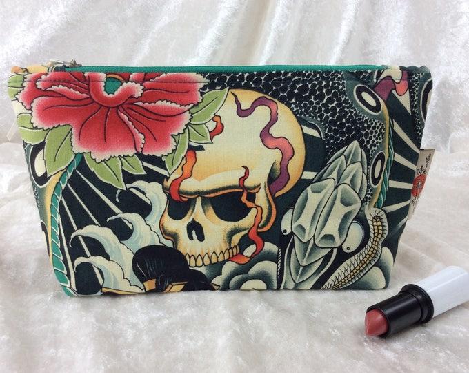 Zen Charmer Zip Case Bag Pouch fabric Alexander Henry design Handmade in England