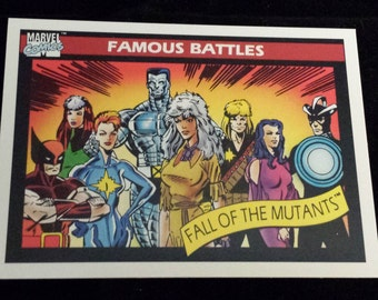 Fall of the Mutants #102 - 1990 Marvel Universe Series 1 Base Trading Card