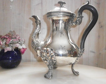COLLECTION Antique silver coffee plated Regency - Antique Silver plated coffeepot Regency Style