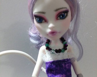 Monster High Repaint Redress Catrine DeMew OOAK Doll w/accessories