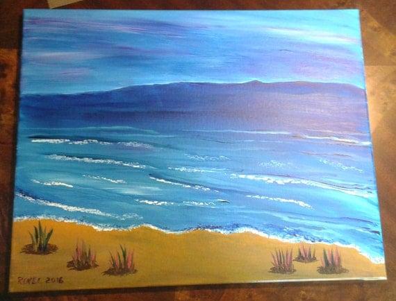 Beach Scene Painting Acrylic