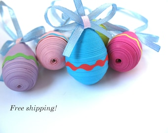 Easter eggs - quilling - Easter decorations - Easter gift - Set of 5 pieces