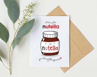 birthday card boyfriend, funny birthday card boyfriend, funny birthday card boyfriend, nutella spoon, best friend, birthday cards,