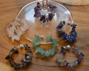 StemGems magnetic wine charms (set of 6)-CLASSIC