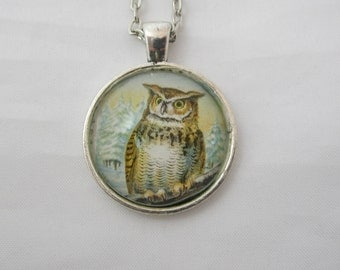 Owl Bird Pendant Necklace