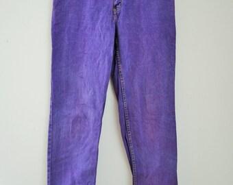 Vintage Mens Denim Jeans / Size 33 / 90's / Pants / Trousers / Edwin / USA / Purple