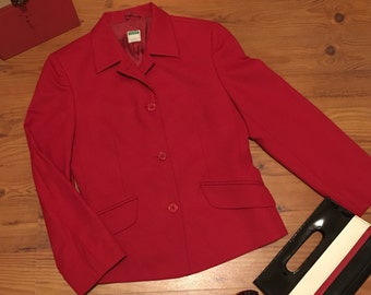Italian Red Wool Blazer